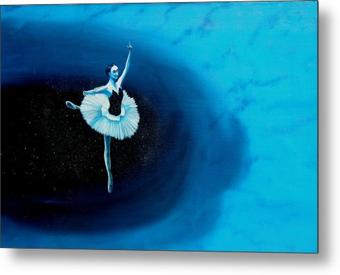 Oil Painting. Ballerina. Ballerina Dancing. Universal Balance. Surreal Impressionism Metal Print featuring the painting Balance by Ivan Rijhoff
