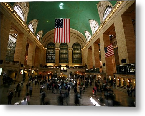 Grand Central Station Metal Print featuring the photograph Grand Central Station by Caroline Clark