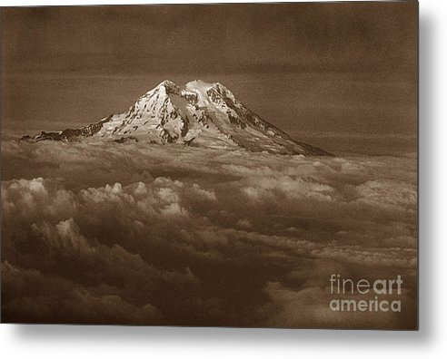Mountains Metal Print featuring the photograph Majestic Mt. Rainier by Michael Ziegler