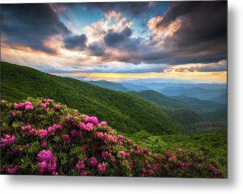 Blue Ridge Parkway Metal Print featuring the photograph North Carolina Blue Ridge Parkway Scenic Landscape Asheville Nc by Dave Allen
