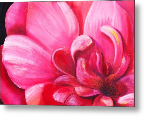 Flower Metal Print featuring the painting Pretty In Pink by Dana Redfern