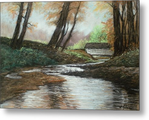 Nature Metal Print featuring the pastel Serenity by Michael Scherer
