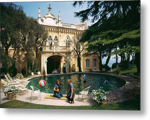 Pets Metal Print featuring the photograph Chateau St. Jean by Slim Aarons