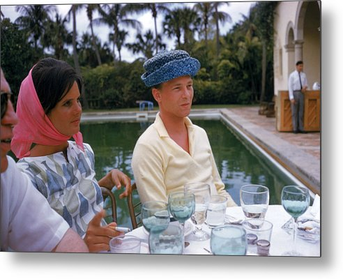 Lilly Pulitzer Metal Print featuring the photograph Pulitzer At Party by Slim Aarons