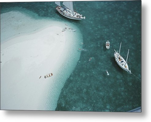 People Metal Print featuring the photograph Stocking Island, Bahamas by Slim Aarons