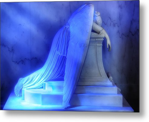 New Orleans Metal Print featuring the photograph Weeping Angel by Don Lovett