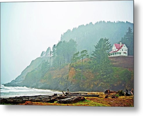 Ocean Metal Print featuring the photograph Foggy Pacific by Dale Stillman