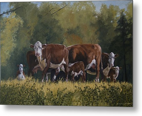 Landscape Metal Print featuring the painting Generations by Peter Muzyka