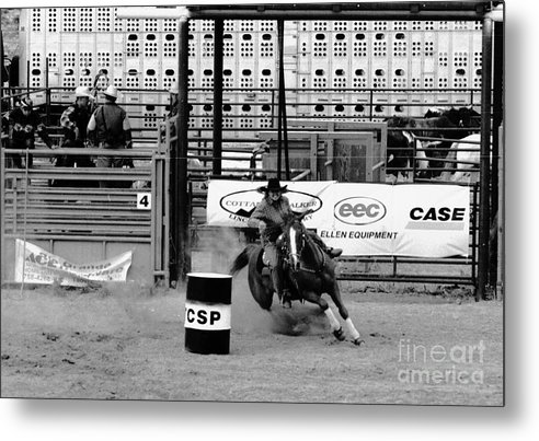 Rodeo Metal Print featuring the photograph Barrel Racer by Susan Chandler