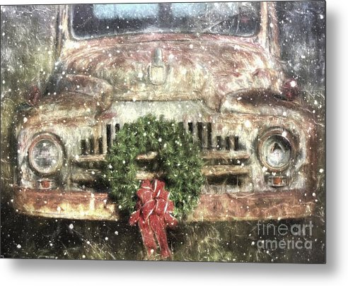 Christmas Metal Print featuring the photograph Decked Out For Christmas by Benanne Stiens