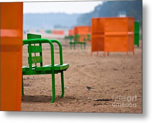 Beach Metal Print featuring the photograph Not A Season by Vadim Grabbe