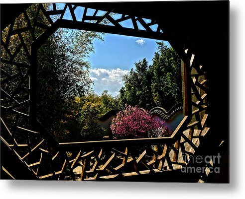 Japanese Metal Print featuring the photograph The View From The Window by Ivana Kovacic