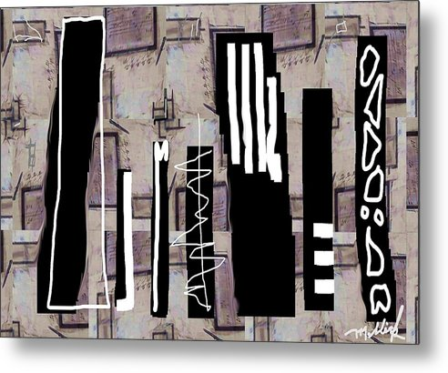 Chicago Metal Print featuring the painting Chicago by Carl Mellick