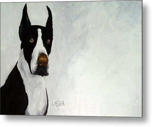 Metal Print featuring the painting Great Dane by Dick Larsen