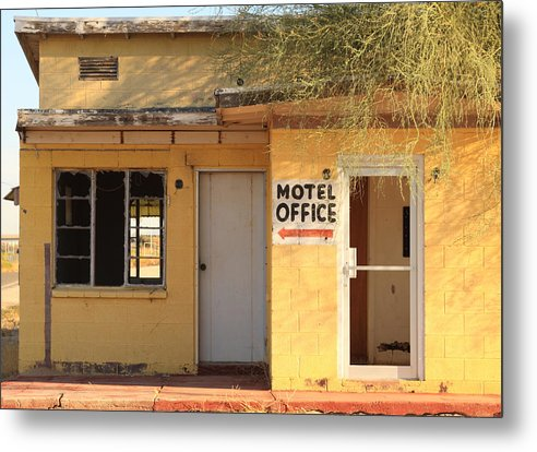Abandoned Metal Print featuring the photograph Abandoned Motel Office by Troy Montemayor