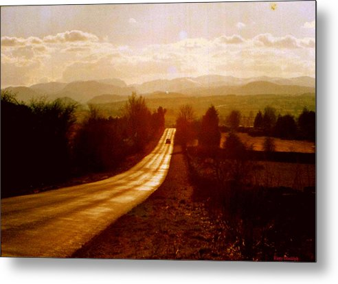 English Landscape Metal Print featuring the photograph The Long And Lonely Road....... by Rusty Gladdish
