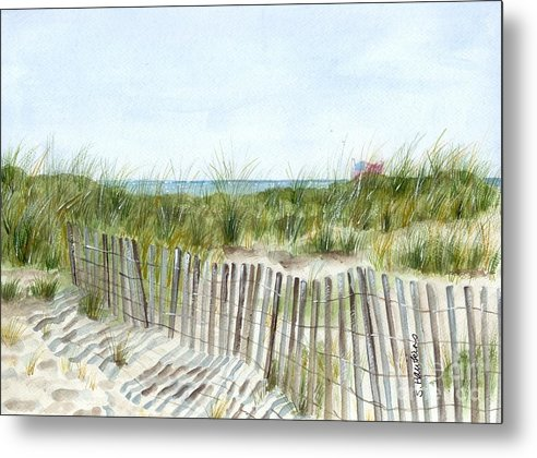 Original Watercolor Metal Print featuring the painting 9-12-2001 by Sheryl Heatherly Hawkins
