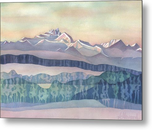Watercolor Print Metal Print featuring the painting Brian Boru Mountain by Anne Havard