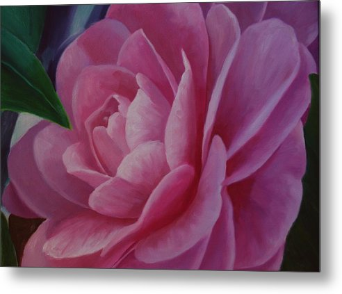 Flower Metal Print featuring the painting California Rose by Marilyn Tower