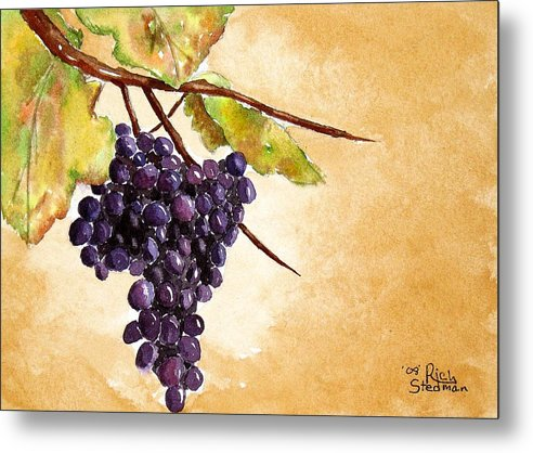 Food And Beverage Metal Print featuring the painting Fall Harvest by Rich Stedman