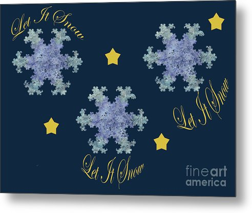 Let It Snow Metal Print featuring the digital art Let It Snow by Kimberly Hansen