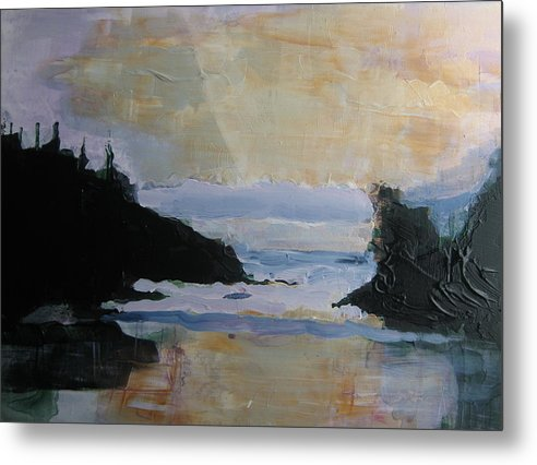 Long Beach Vancouver Island Metal Print featuring the painting Chesterton Beach by Karen Severson