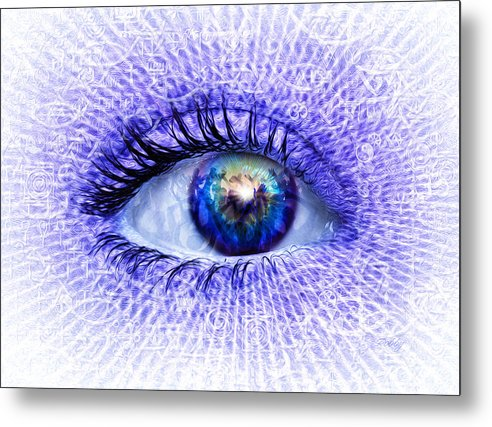Blue Metal Print featuring the painting In The Eye Of The Beholder by Robby Donaghey