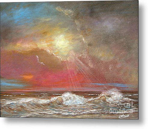 Ocean Metal Print featuring the painting After The Rain Sold by Jeannette Ulrich