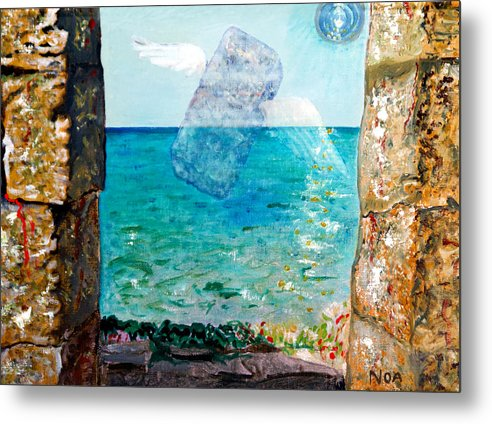 Seascape Metal Print featuring the painting Flight Of A Soul by Aymeric NOA