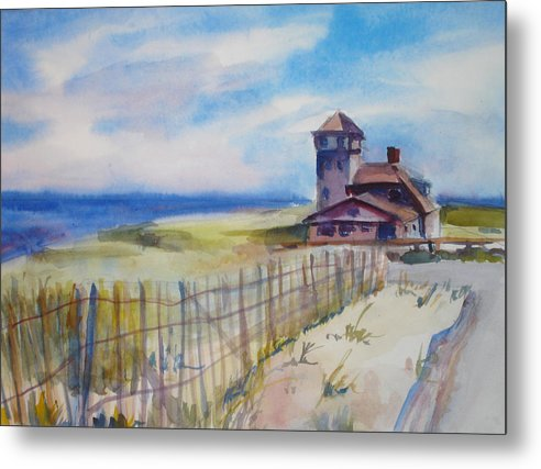 Provincetown Metal Print featuring the painting Provincetown Ocean View by Joyce Kanyuk