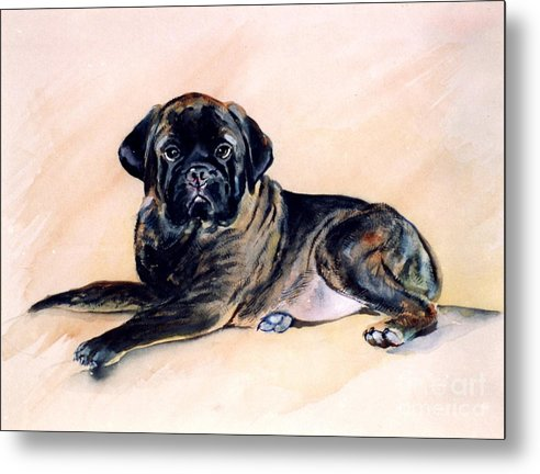 Bullmastiff Metal Print featuring the painting Sharon by Adele Pfenninger