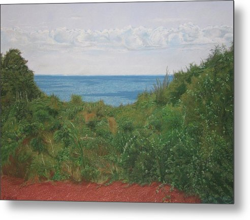Cape Cod Metal Print featuring the pastel A View For Hannah by Harvey Rogosin