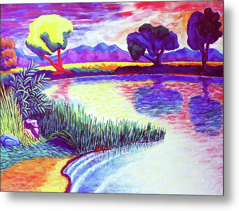Landscape Metal Print featuring the painting Return To Morgan's Pond by Terrie Rockwell
