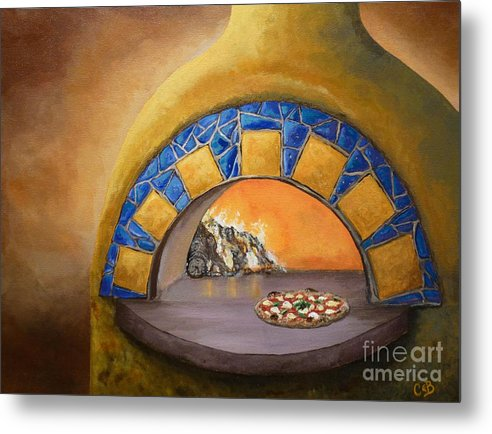 Pizza Metal Print featuring the painting Wood Fired by Chad Berglund