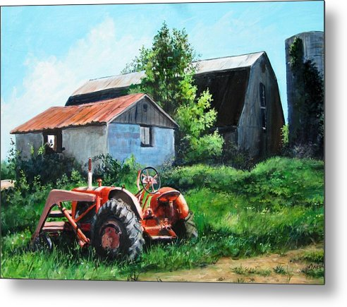 Farm Metal Print featuring the painting At Rest by William Brody