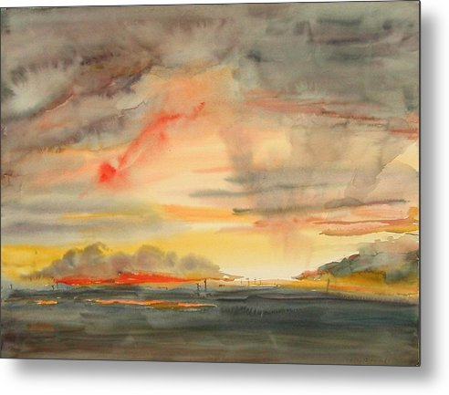 Alaska Metal Print featuring the painting Bethel Alaska Nine Eleven by Nancy Brennand