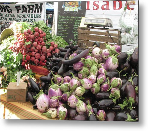 Flowers Metal Print featuring the photograph Market Day by Karen Johnston