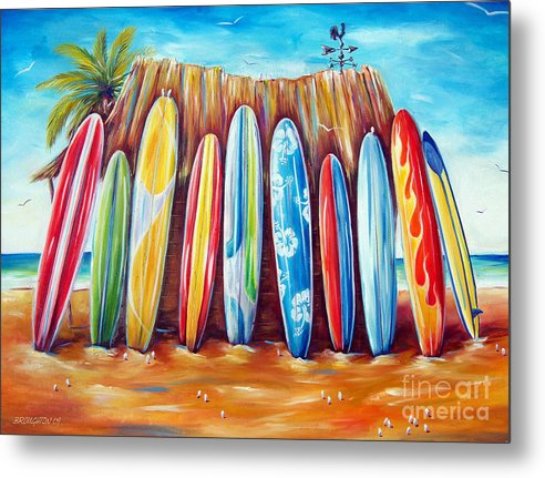 Surf Metal Print featuring the painting Off-shore by Deb Broughton