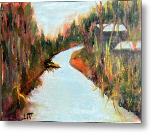 Fall Metal Print featuring the painting Old Mill by Lia Marsman