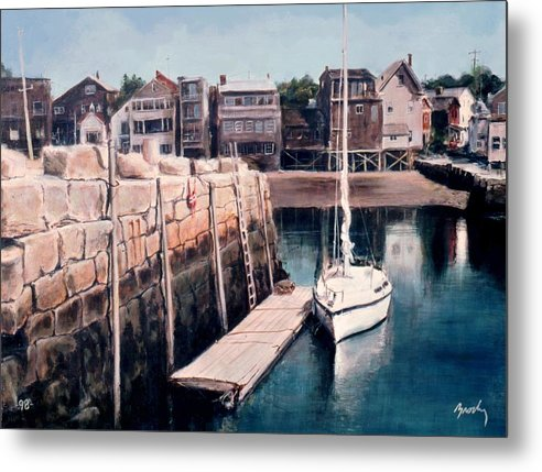 Landscape Metal Print featuring the painting Rockport by William Brody