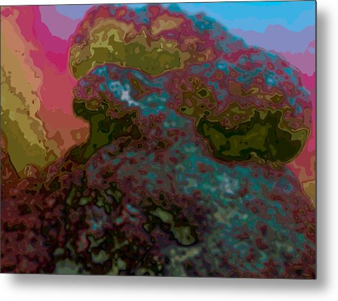 Abstract Metal Print featuring the digital art It Is What It Is by James Kramer