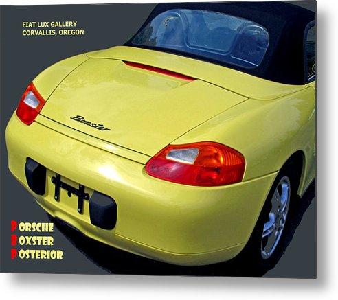 Porsche Metal Print featuring the photograph Porsche Boxster Posterior by Michael Moore