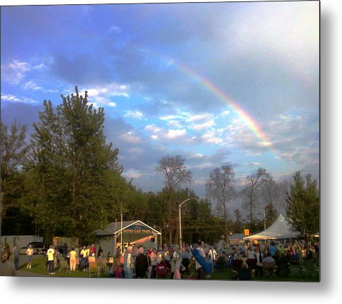 Landscapes Metal Print featuring the digital art Rainbow At Wind Gap Park by Diane Paulhamus