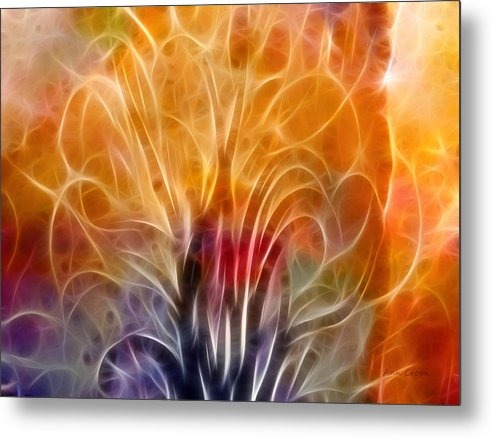 Abstract Metal Print featuring the digital art Tree Of Life by Ann Croon