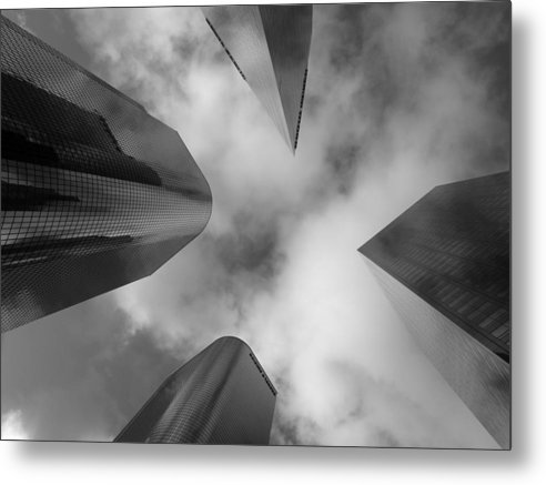 Buildings Metal Print featuring the photograph 4 Faces 2 by Lloyd Silverman
