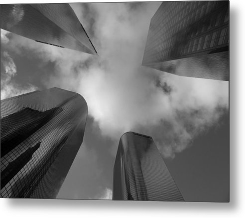 Buildings Metal Print featuring the photograph 4 Faces by Lloyd Silverman