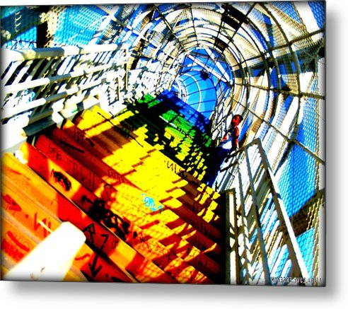 Libra.love.freedom Metal Print featuring the photograph Colorful Steps by D Wash