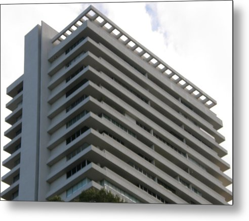 Apartment Building Metal Print featuring the photograph Layer Cake by Lloyd Silverman