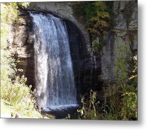 Waterfall Metal Print featuring the photograph Looking Glass Falls by Audrie Sumner