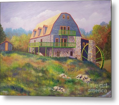 Mill Metal Print featuring the painting Mountain Mill by Hugh Harris